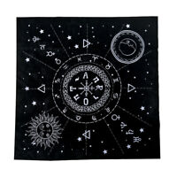 Constellation Tarot Table Card Cloth Divination Velvet Tapestry Black Square