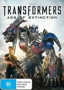 TRANSFORMERS AGE OF EXTINCTION DVD - MARK WAHLBERG Region 4 A Michael Bay film