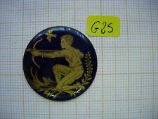 Petit médaillon émail sagittaire émaillé bijoux montre enamel zodiaque p25