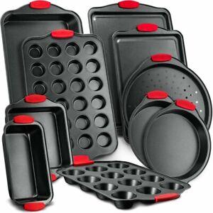NutriChef 10 Piece Non-Stick Carbon Steel Bakeware Set