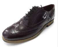 Delicious Junction Ladies Oxblood Leather Retro Shoe`s