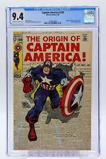 Captain America # 109 CGC 9.4 Origin of Captain America retold. Stan Lee Story