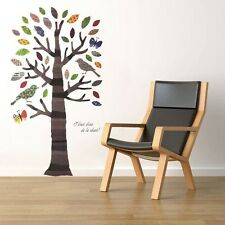 Stunning Removable Vinyl Wall Stickers - Colourful Tree Birds Butterflies JM8207