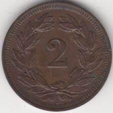 1903 B Switzerland 2 Rappen Coin | Pennies2Pounds