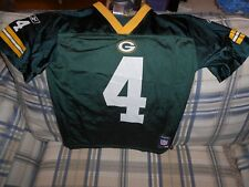 Green Bay Packers green youth Favre jersey #4 sz M (10-12)