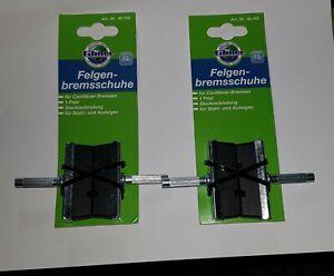 Felgenbremsschuhe für Aluminiumfelgen 4 St., Bremsschuhe Bremszubehör 2 Paar