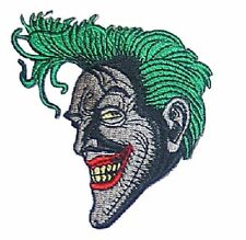 "Batman Series Joker Character Grinning 3 1/4"" Tall Embroidered Iron on Patch"