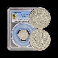 1495-1506 Lithuania 1/2 Groschen (Silver) - PCGS XF40 - Vytis / Eagle