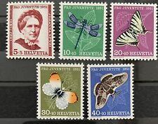 Série PRO JUVENTUTE 1951 : Neuf MNH ** , Mi 561-565