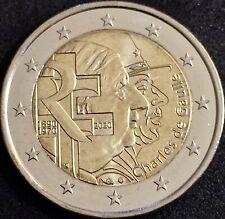 2 Euros  FRANCIA 2020 CONMEMORATIVA *Charles de Gaulle* SIN CIRCULAR