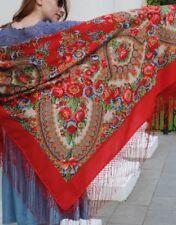 Women's Merino Woolen Shawl Russian Huge Scarf Pavlovo Posad Warmth Winter Wrap