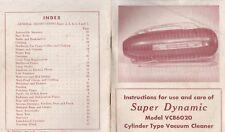 SUPER DYNAMIC VACUUM 1952 MANUAL