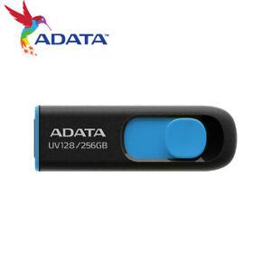 ADATA UV128 256GB USB 3.2 Capless Design USB Flash Pen Drive BLACK
