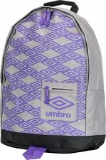 UMBRO TITUS BACKPACK RUCKSACK SCHOOL BAG GREY/PURPLE/BLACK - BRAND NEW *68% OFF*
