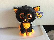 "Ty Beanie Boo MOONLIGHT the Halloween Cat 6"" Mint with Mint Purple Tag"