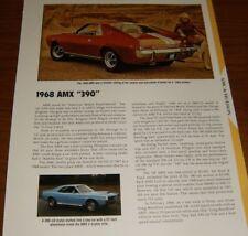 ★★1968 AMC AMX 390 SPECS INFO PHOTO 68 JAVELIN SST 69 70 AMERICAN MOTORS★★
