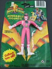 "Mighty Morphin POWER RANGERS 5"" Bendable Pink Kimberly Figure 1994 NIP"