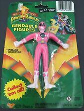 "Mighty Morphin POWER RANGERS 5"" Bendable Pink Kimberly Figure 1994 NIP"