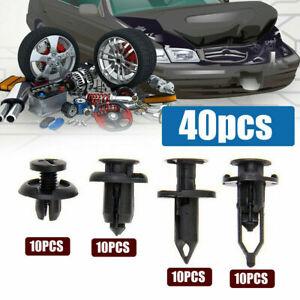 40x Car Plastic Rivets Fastener Clips Bumper Push Pin Rivet Retainer Accessories