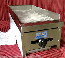 """New 12"""" Flat Top Griddle Stratus Smg-12 #1049 Commercial Gas Hot Plate Grill Nsf"""
