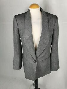 Ladies Coat Size 16 NEXT Grey Tweed Blazer Smart Day Office Work