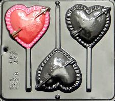 Heart with Arrow Lollipop Chocolate Candy Mold Valentine  3028 NEW