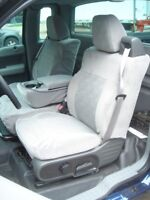 2004-2008 Ford Truck F150 Xcab Front Exact Seat Covers, 40/20/40, in Gray Twill