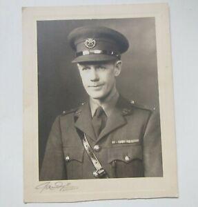 Old WW2 Duke of Cornwall's Light Infantry Soldier Portrait Photo