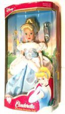 "Cinderella Holiday Disney Princess 15"" Porcelain Doll Brass Key Slipper Keepsake"