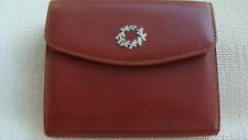 WOMEN' S LEATHER WALLET - WREATH BROOCH - ATHENS 2004 OLYMPIC PRODUCT