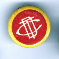 1890s pin CDT pinback LETTERS INITIALS button