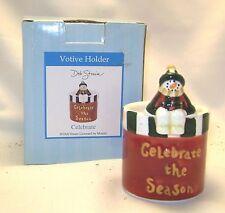 Old Virginia Candle Holder Ceramic Votive Celebrate Season Deb Strain