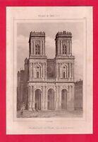 Cathédrale d'Auch  GRAVURE 1845  FRANCE XVII