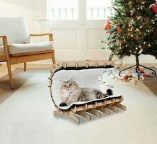 Cat Hammock Bed Sofa Pet House Wooden Frame Lazy Mat Cushion Lounge ,Hanging Toy