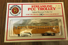 Bachman Streamline PCC TROLLEY HO Train Model Yellow 7407 - New #62946