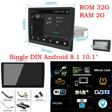 "10.1"" Android 8.1 Quad-Core 1Din Car Radio GPS Stereo Audio Wifi  LTE OBD 2+32G"