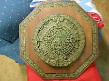 Mayan/Aztec SUN STONE Wall Plaque-ORIGINAL ZAREBSKI ..Made in Mexico....SALE