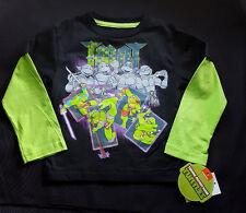 Nickeloden TMNT Teenage Mutant Ninja Turtles 2T Boys Girls Long Sleeved T Shirt