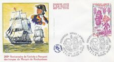 France 1980 FDC Anniversary a Newport of Troops of Marquis of Rochamb yt 2094