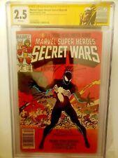 Secret Wars #8 CGC 1st Symbiote Venom Carnage Signed Beatty Zeck & Shooter KEY!!