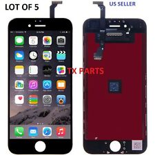 Lot of 5 LCD Display Touch Digitizer Screen Assembly for iPhone 6 Plus Black