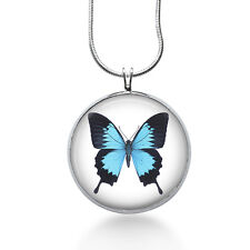 Butterfly Necklace-blue butterflies, dainty necklace, gifts for her, butterflies