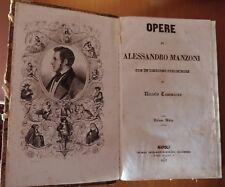OPERE DI ALESSANDRO MANZONI DIALOGO TOMMASEO NAPOLI 1852 ILLUSTRATO