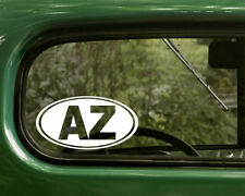 AZ ARIZONA DECAL 2 Oval Stickers For Car Truck Laptop Window Bumper Jeep