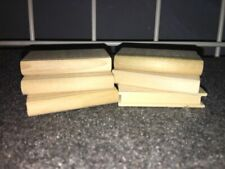 """Lot of 6 mini wooden books for crafts, dolls, decorating 2""""H x 1 1/8""""W x 3/8"""""""