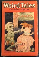 Weird Tales March 1927  Pulp Magazine  Lovecraft