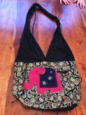 Golden Triangle THAILAND BAG SHOULDER hippie elephant sling PURSE hobo (CT)