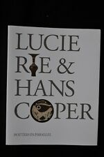 LUCIE RIE HANS COPER POTTERS IN PARALLELL BARBICAN ART GALLERY EXHIBITION