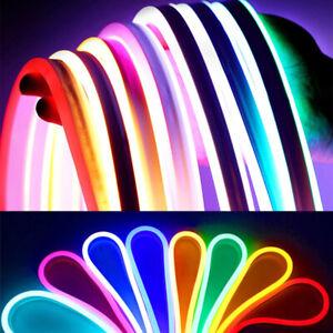 LED Strip Neon Flex Rope Light Waterproof DC 12V Flexible Outdoor Lighting UK AQ