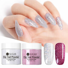 2 Boxes Holographic Dipping Powder Silver Purple Dip System Natural Dry 30ml